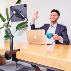 tablet-houder-ipad-standaard-met-klem-pro-xl-lange-hals-75cm-op-kantoor-videobellen-
