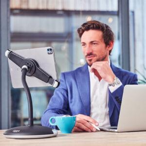 tablet-houder-ipad-standaard-met-voet-en-klem-pro-xl-werk-meeting-goose