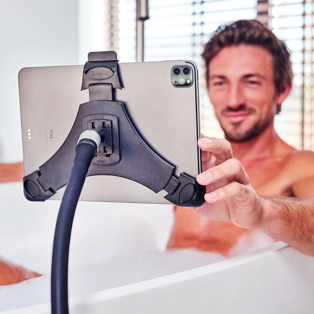 In bad van iPad, tablet of telefoon genieten met GOOS-E